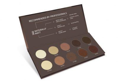 Naturally Matt Pressed Eyeshadows Palette / Paleta fard compact pentru ochi - natural mat