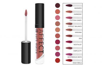 Liquid Lipstick soft matte / Luciu pentru buze mat, delicat