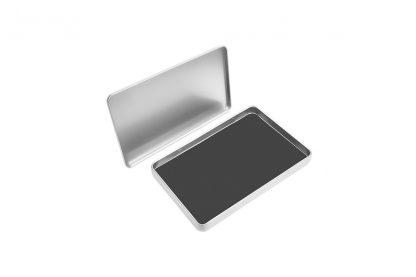 Aluminum Palette Glossy Box mini / Mini trusa suport din aluminiu pentru rezerve farduri machiaj