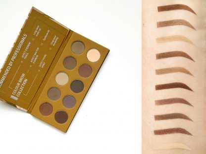 Colour Brow Collection Pressed Eyebrow Shadows Palette / Paleta fard compact pentru sprancene