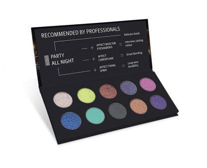 Party All Night Pressed Eyeshadows Palette / Paleta fard compact pentru ochi (machiaj de seara )