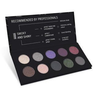 Smoky And Shiny Pressed Eyeshadows Palette/Paleta fard compact pentru ochi